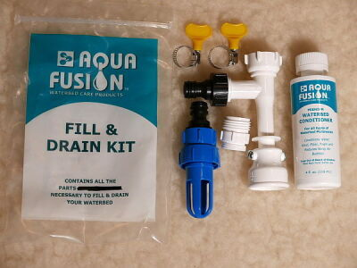 waterbed drain and fill kit with conditioner
